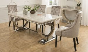 Arianna Cream Marble Furniture