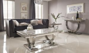 Arianna Grey Marble Furniture