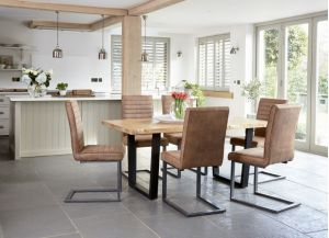 Living Oak Dining Furniture Live Edge