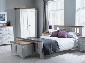 New England Grey Painted Bedroom Furniture