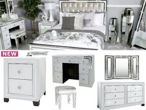 Brooklyn White Mirrored Furniture